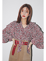 Stylenanda same paragraph Korean ladies small floral shirt flouncing