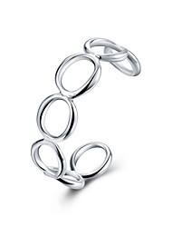 Браслеты Браслет цельное кольцо Браслет разомкнутое кольцо Медь Серебрянное покрытиеДружба Панк Хип-хоп Ручная работа Турецкий Мода