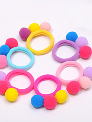 Children Maomao Ball Hair Bands Qiu Dong With Rope Baby Girl Lovely Ball Accessories Sales 10pcs