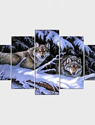 Impression sur Toile Abstrait Animal Moderne Classique,Cinq Panneaux Toile Toute Forme Imprimer Art Décoration murale For Décoration