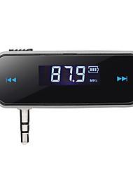 Mini radio 3.5mm del kit de coche manos libres modulador reproductor de música mp3 de audio del transmisor de FM del LCD del vehículo en