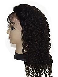 venda quente 2017 de boa qualidade cheia do laço peruca 16 polegadas fio de cabelo humano cabelo virgem Kinky preço barato encaracolados