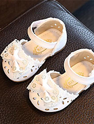 Girls' Sandals Comfort Light Up Shoes Leather Athletic Casual Outdoor Running Comfort Light Up Shoes White Blushing Pink Flat