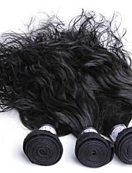 Cabelo Humano Ondulado Cabelo Malaio Ondulado Natural 3 Peças tece cabelo