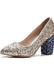 Homme-Mariage Habillé Soirée & Evénement-Argent Or-Gros Talon-club de Chaussures-Chaussures à Talons-Paillette Matières Personnalisées