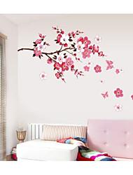 Романтика Мода Цветы Наклейки Простые наклейки Декоративные наклейки на стены,Бумага материал Украшение дома Наклейка на стену
