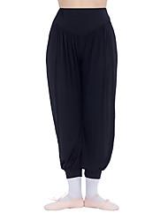 Ballet Yoga Bottoms Women's Children's Training Cotton Side-Draped 1 Piece High Pants