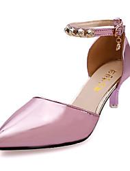 Feminino-Saltos-Conforto-Salto Agulha-Rosa Dourado Cinzento ecuro-Couro Ecológico-Casual