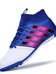 Femme-Sport-Bleu Rouge Orange-Talon Plat-Confort-Chaussures d'Athlétisme-Cuir