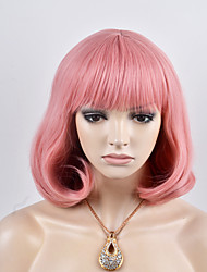 Europe and the United States new short paragraph Qi Liu white pink BOBO head high temperature wire wig