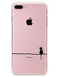 Назначение iPhone X iPhone 8 iPhone 7 iPhone 6 Кейс для iPhone 5 Чехлы панели С узором Задняя крышка Кейс для Кот Мягкий Термопластик для