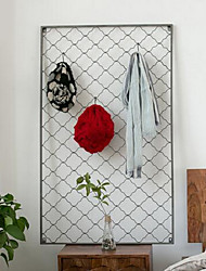 Wall Decor Iron Modern Wall Art Grid Hangers Hook Up