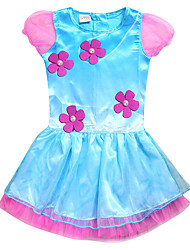 Girl's Print Dress,Cotton Polyester Summer Spring Short Sleeve