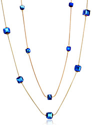 Women's Pendant Necklaces Chain Necklaces Crystal Pearl Copper Gold Plated GeometricBasic Circular Unique Design Dangling Style