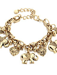 Chain Bracelet Alloy Fashion Vintage Punk Hip-Hop Handmade Movie Jewelry Heart Animal Shape Gold Silver Jewelry 1pc