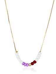 Bohemia Beads Necklace Chain 0449# simple Korean temperament clavicle