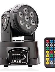 u'king® bewegten Kopfstufe Effektlicht 7x10w 4 Farbe RGBW mit 5 Steuermodus LED für dj KTV Disco Party Ballsaal 1pcs