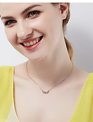 Pendant Necklaces Chain Necklaces Sterling Silver Single Strand Basic Fashion Gold Jewelry Daily Casual 1pc