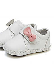 Girls' Baby Flats First Walkers Leatherette Summer Casual Outdoor Walking First Walkers Magic Tape Low Heel White Black Ruby Flat