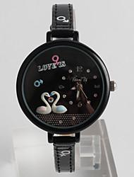 Women's Fashion Watch Quartz / PU Band Cartoon Casual Black Brand