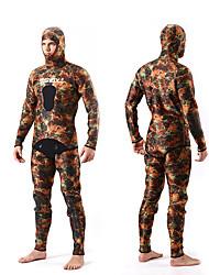 SLINX® Men's 5mm Wetsuits Dive Skins Waterproof Breathable Thermal / Warm Quick Dry Windproof Tactel Coolmax Corduroy Memory FoamDiving