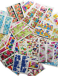 50 PC Flower Design Water Transfer Decals DIY Nail Art Tips Stickers Decor