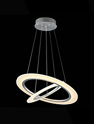 LED Acrylic Pendant Lights Ceiling Hanging Chandeliers Deco Lamps with 26W 2 ring 3050 CE FCC
