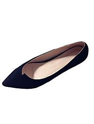 Flats Spring Comfort PU Casual Flat Heel Others Black Gray