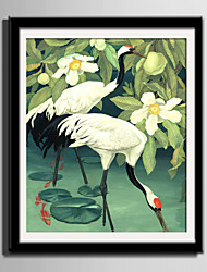 E-HOME® Framed Canvas Art Crane in The Water Framed Canvas Print One Pcs