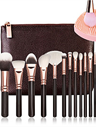 15 Pcs Brushes  And 1Pcs Cleaner Rose Golden Complete Makeup Brush Set Professional Luxury Set Make Up Tools Kit Powder Blending Brushes