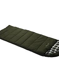Спальный мешок Прямоугольный Односпальный комплект (Ш 150 x Д 200 см) -15-20 Пористый хлопок T/C хлопок 300г 200X80Пешеходный туризм