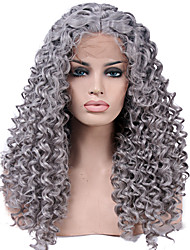 Heat Resistant Synthetic Lace Front Wigs Kinky Curly Hair Heat Resistant Fiber Hair for Fashion Woman