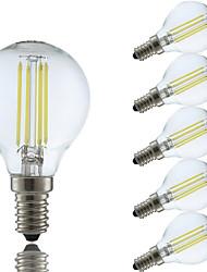 3,5 E14 LED žárovky s vláknem P45 4 COB 400/350 lm Teplá bílá Chladná bílá AC 220-240 V 6 ks