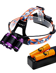 U'King ZQ-X809D-US Headlamps LED 6000 Lumens 4 Mode 2*R5/Cree XM-L T6 18650 Adjustable Focus for Camping/Hiking/Caving Everyday Use