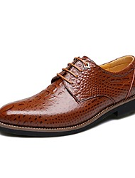 Men's Oxfords/Business Style/New/Leather/Crocodile Pattern/Casual/Comfort/Office/Brown/Black