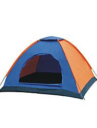 2 человека Световой тент Один экземляр Семейные палатки Однокомнатная Палатка Полиэстер Водонепроницаемый Воздухопроницаемость-Пешеходный