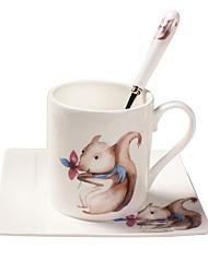Cartoon Drinkware, 200 ml Portable Ceramic Coffee Milk Coffee Mug Travel Mugs