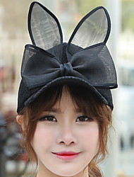 Women Spring Bow Lace Rabbit Ears Ladies Wholesale Baseball Cap