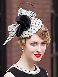Feather Flax Velvet Net Headpiece-Wedding Special Occasion Outdoor Fascinators Hats 1 Piece