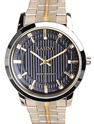 Unisex Dress Watch Quartz Alloy Band Grey Gold