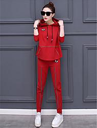 costume de loisirs printemps féminin 2017 printemps nouveau sport à la mode coréenne en deux parties pantalons à manches longues marée