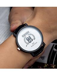 Masculino Relógio Esportivo Quartzo / Estrelado Couro Banda Vintage Preta Marrom Branco Preto Marron