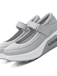Damen-Sneaker-Lässig-Tüll-Keilabsatz-Komfort Leuchtende Sohlen