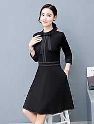 2017 spring models new women's European leg was thin ladies temperament fashion bottoming dress sub Europe red tide goods