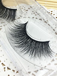 Eyelashes 3D mink Full Strip Lashes Eyes Thick Lifted lashes  Handmade Animal wool eyelash Black Band  M01
