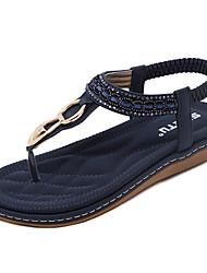 Damen-Sandalen-Büro Kleid Lässig-PU-Keilabsatz-Komfort Leuchtende Sohlen-