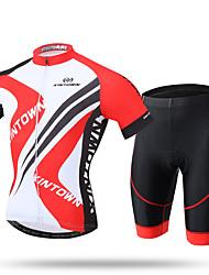 XINTOWN Maillot et Cuissard de Cyclisme Homme Manches Courtes Vélo Pantalon/Surpantalon Maillot Cuissard  / Short Hauts/Tops Séchage