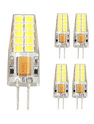 5PCS G4 20LED SMD2835 AC/DC12V 7W 1000lm  Warm White/White High Quality Double pin Waterproof Lamp