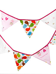 3.2m 12 Flags Animal Banner Pennant  cotton Bunting Banner Booth Props Photobooth Birthday Wedding Party Decoration