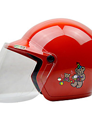 ZEUS AS-201 Motorcycle Children Helmet Half Helmet ABS For 3-12 Years Old